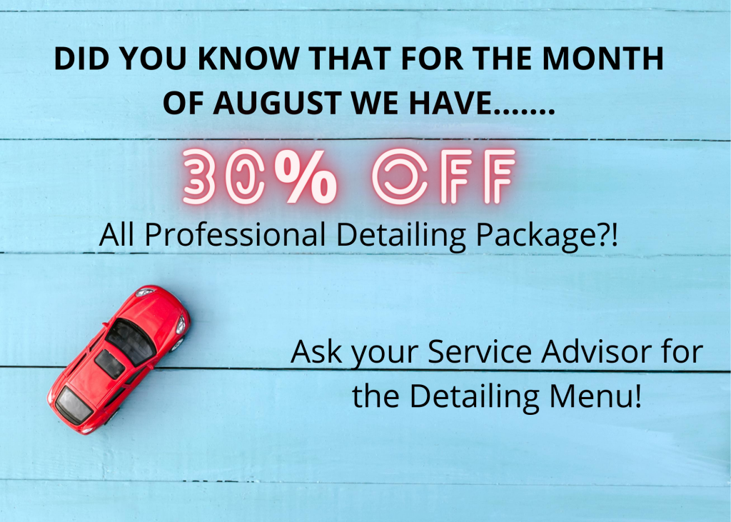 DID YOU KNOW THAT FOR THE MONTH OF AUGUST WE HAVE.......
